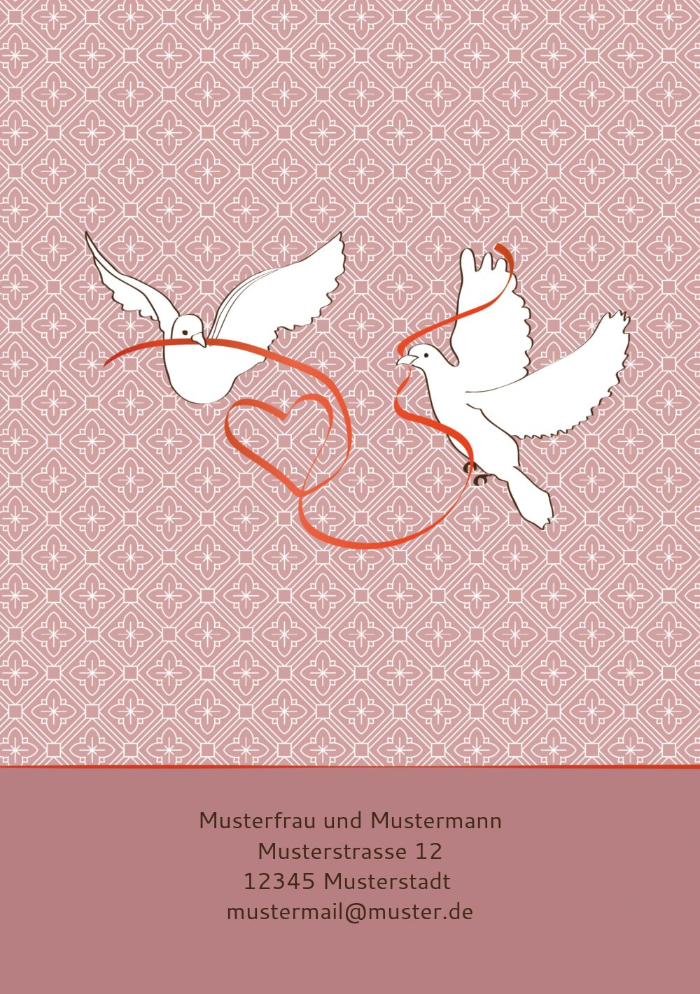 Ansicht 2 - Hochzeit Dankeskarte Turteltäubchen