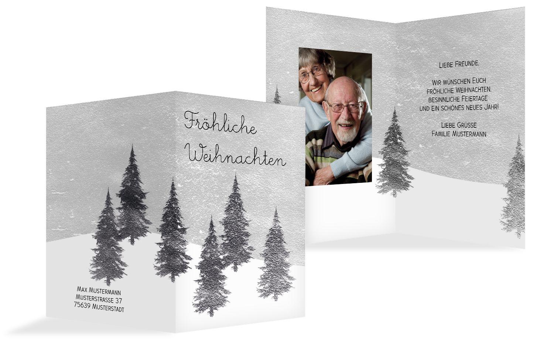 Foto Grußkarte Winterwald