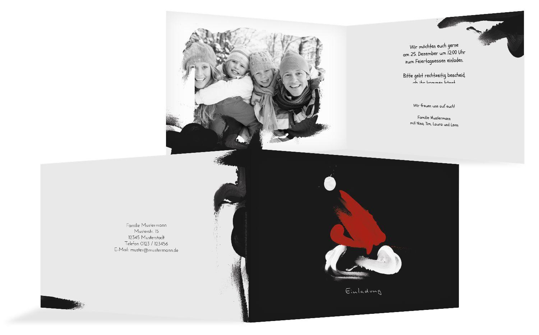 Foto Einladung Farbenmütze