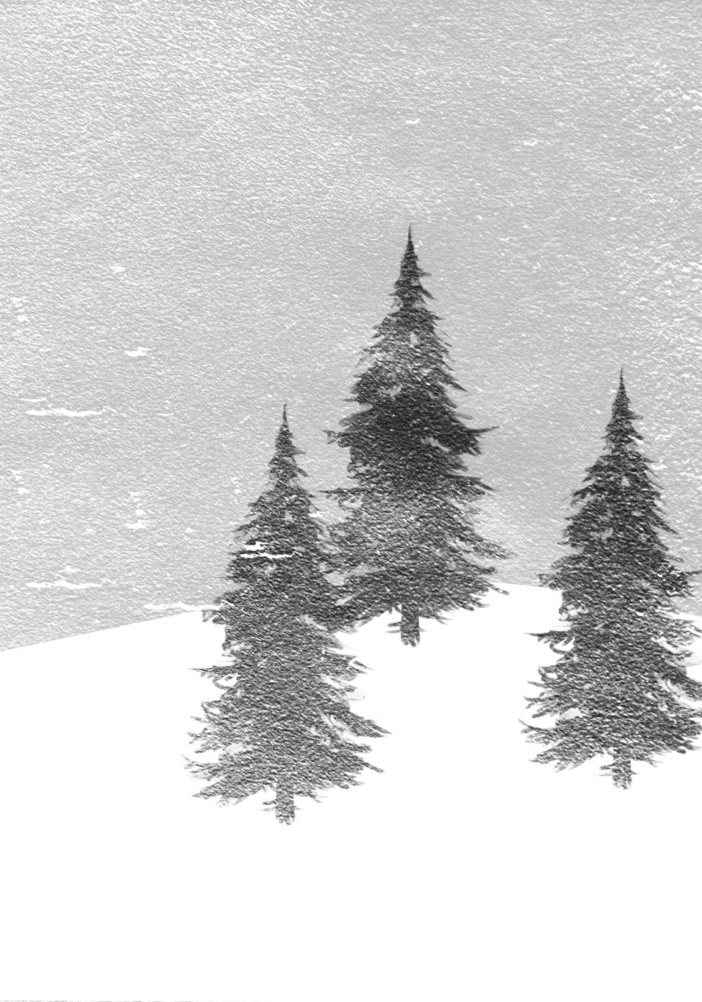 Ansicht 2 - Menükarte Winterwald