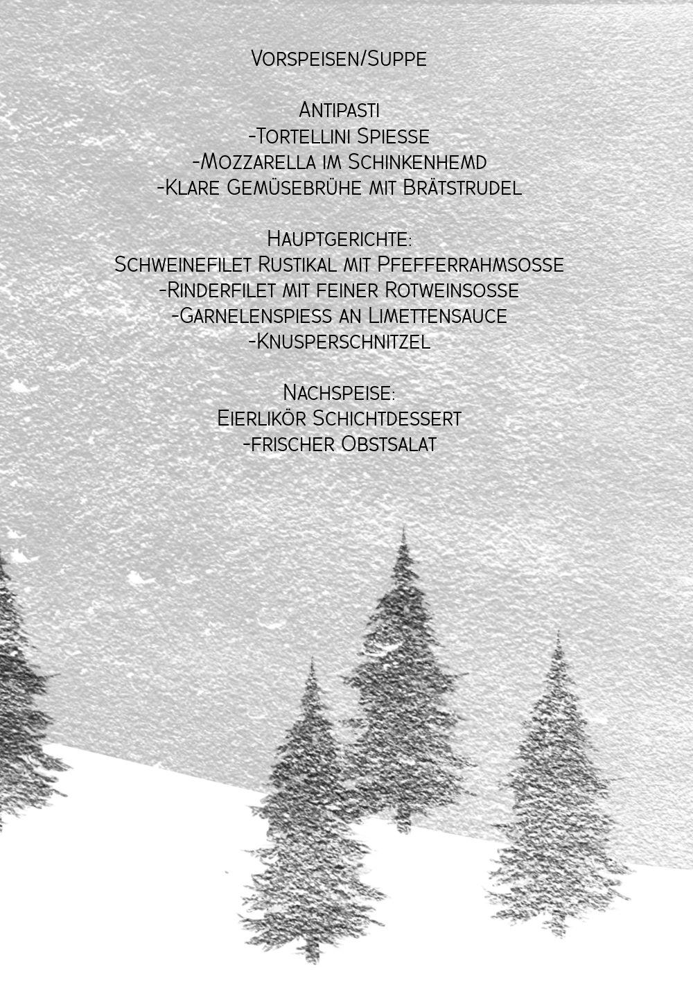 Ansicht 5 - Menükarte Winterwald