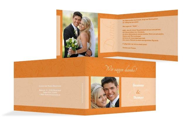 Hochzeit Dankeskarte Hochzeitsglück