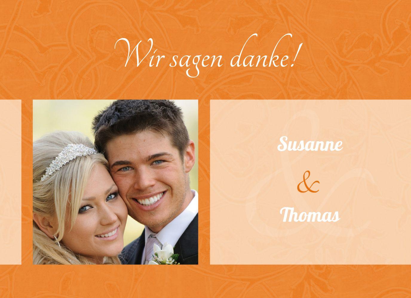 Ansicht 3 - Hochzeit Dankeskarte Hochzeitsglück