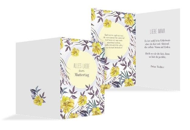 Muttertagskarte Blumenwiese
