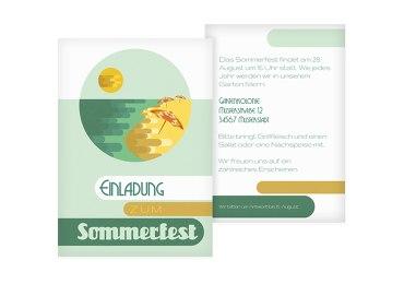 Einladung Sommerfest Sommerflair Hellgrünblau 105x148mm