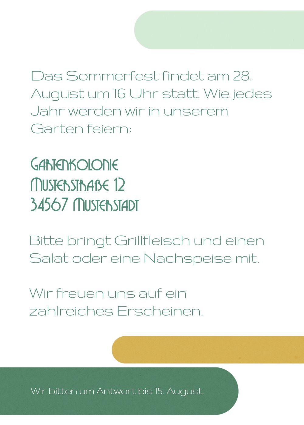 Ansicht 3 - Einladung Sommerfest Sommerflair