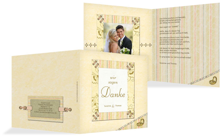 Hochzeit Dankeskarte Bund für's Leben