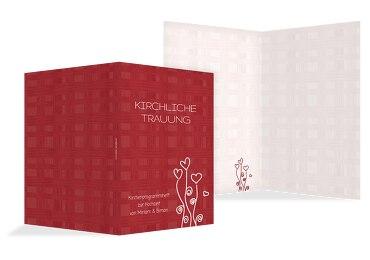 Hochzeit Kirchenheft Umschlag Liebestraum