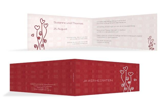 Hochzeit Einladung 2 Liebestraum