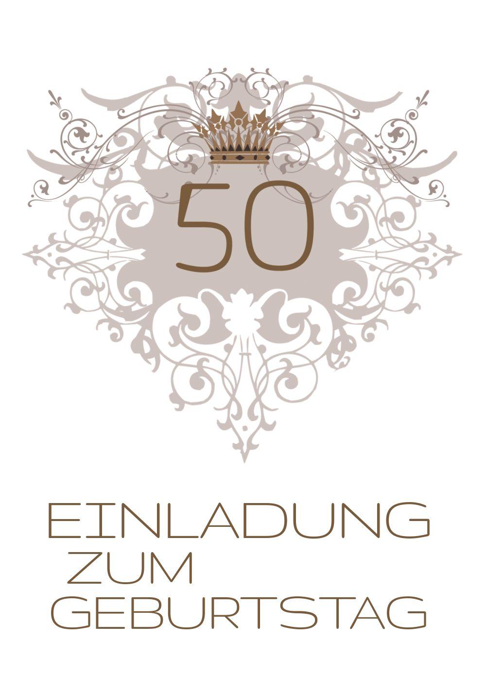 Ansicht 3 - Einladungskarte Krone 50 Foto