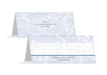 Hochzeit Tischkarte Blättertraum