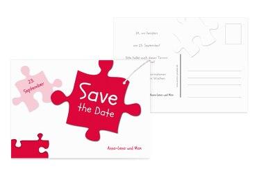Hochzeit Save-the-Date Puzzleteile