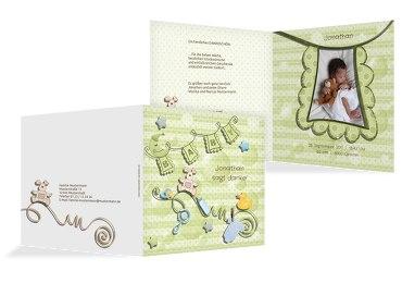 Baby Dankeskarte babyelements