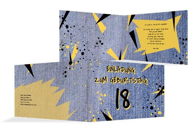 Geburtstagseinladung Jeans Style 18