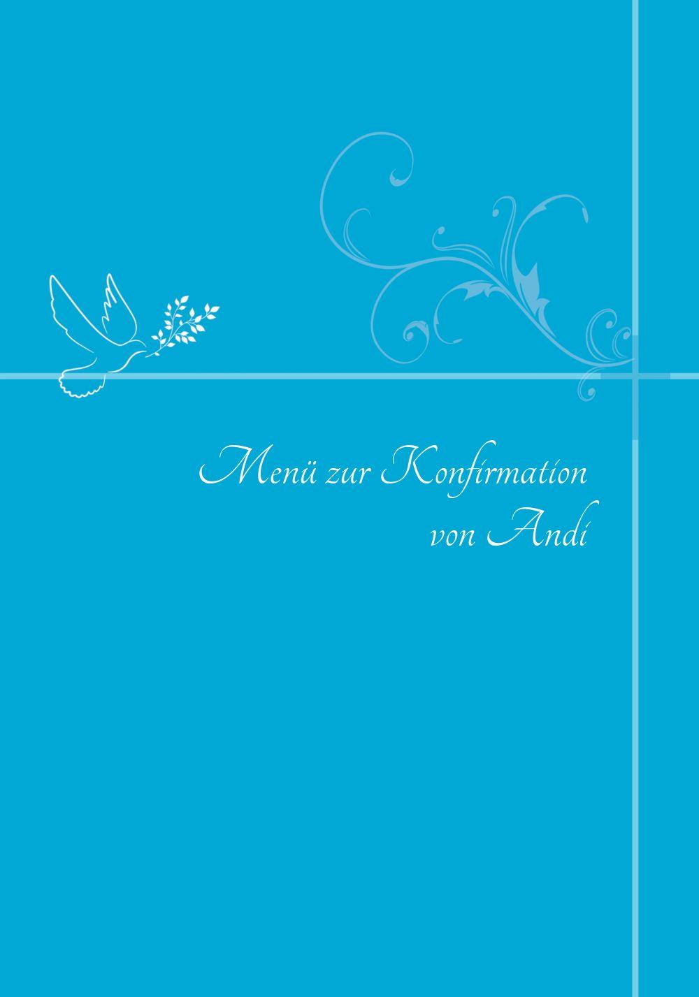 Ansicht 3 - Menükarte zur Konfirmation floral
