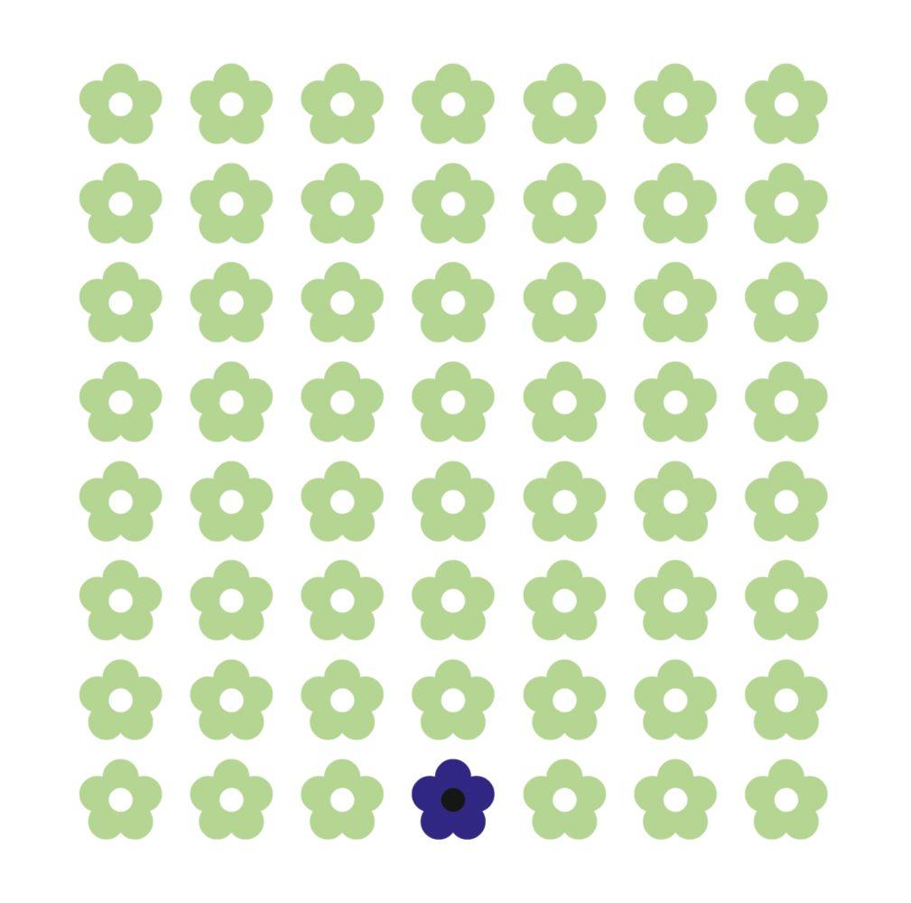 Ansicht 2 - Taufkarte Blumentapete