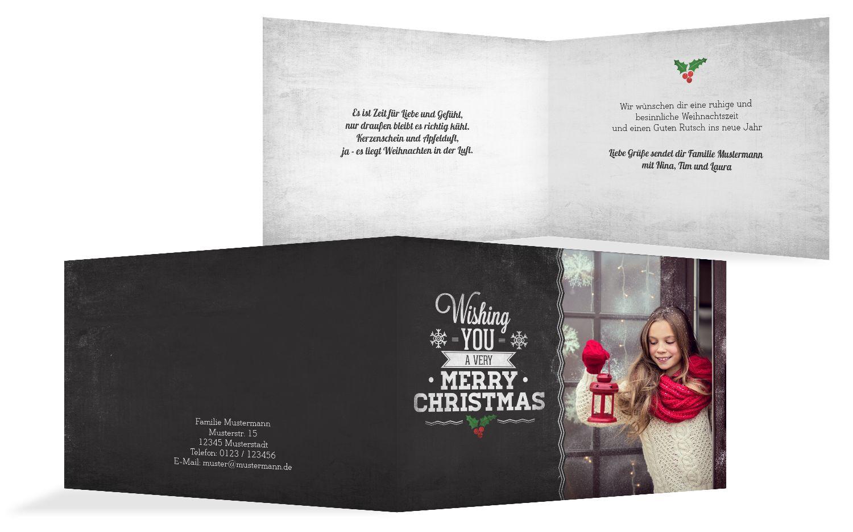 Foto Grußkarte Merry Christmas
