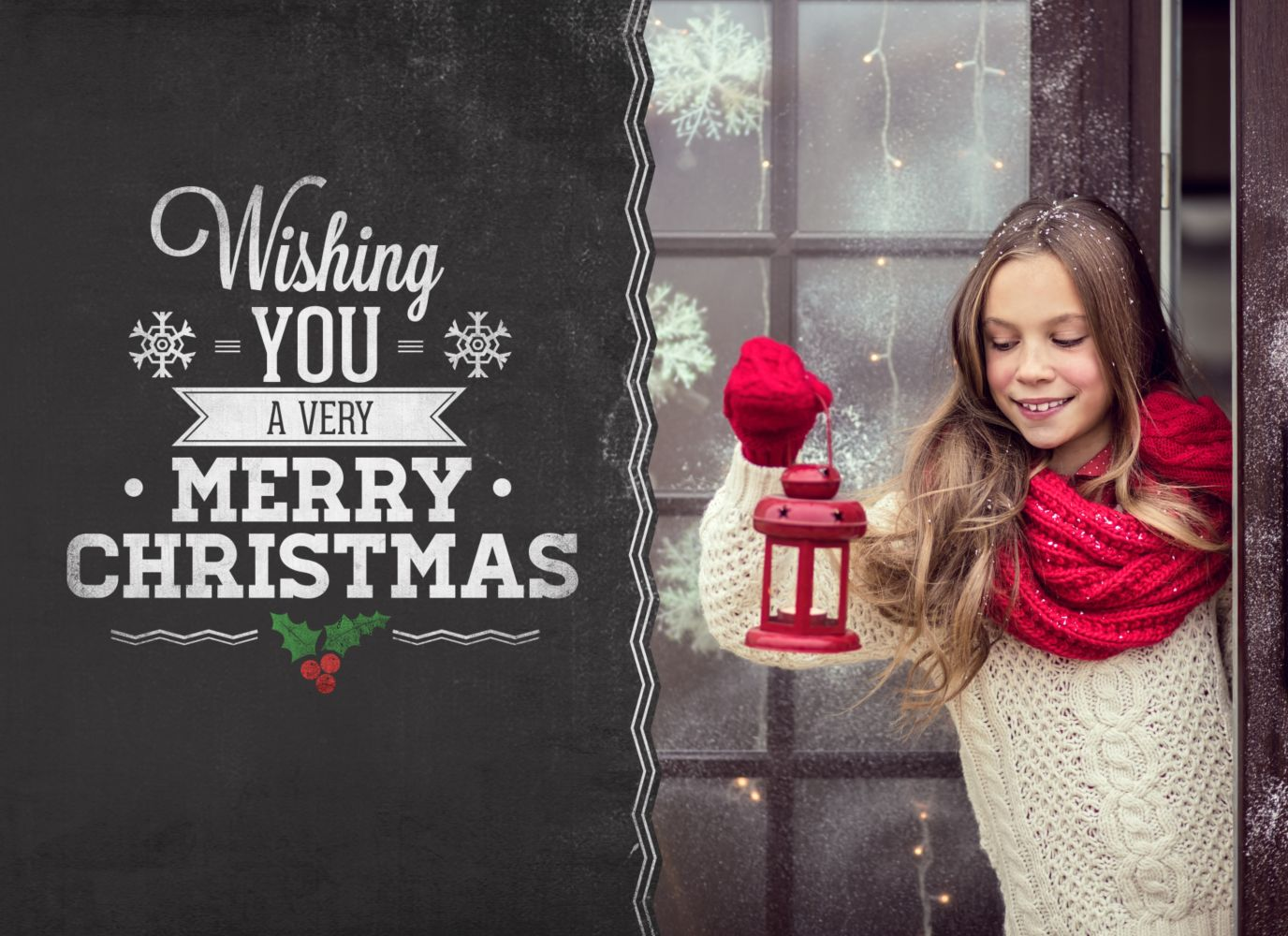 Ansicht 3 - Foto Grußkarte Merry Christmas