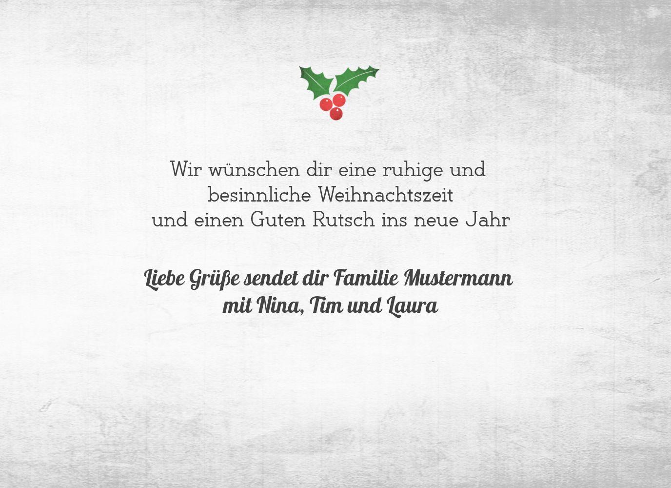 Ansicht 5 - Foto Grußkarte Merry Christmas