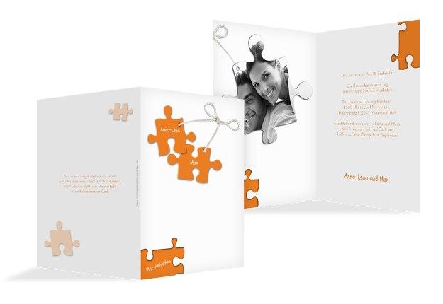 Hochzeit Einladung Puzzleteile