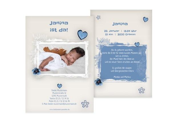 Babykarte zarte Blüte