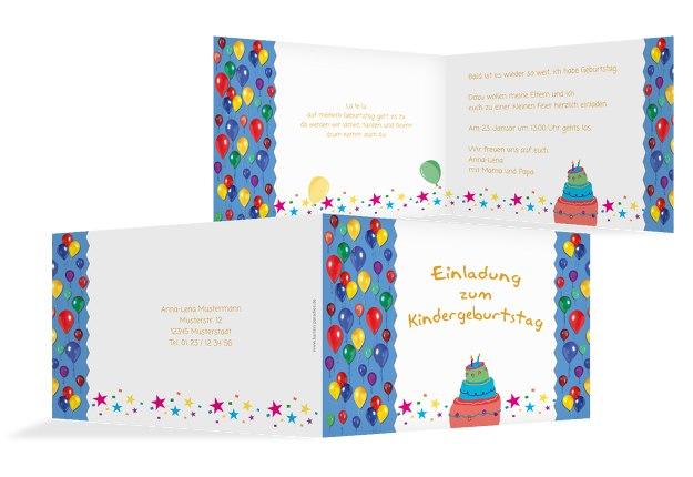 Einladungskarte Luftballon