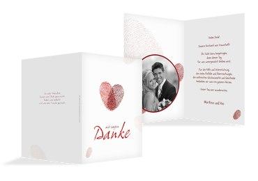 Hochzeit Dankeskarte fingerprint