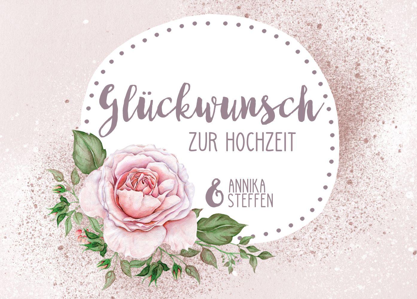 Ansicht 2 - Glückwunschkarte zur Hochzeit Blume