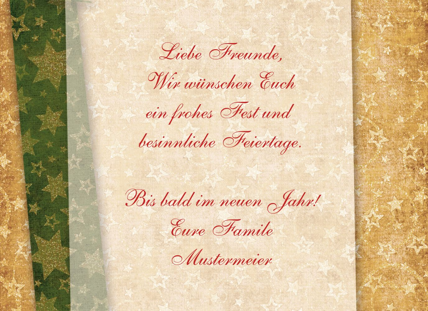 Ansicht 5 - Grußkarte Weihnachten Goldenes Geschenk