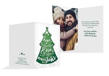 Foto Weihnachtsgrußkarte Letterbaum