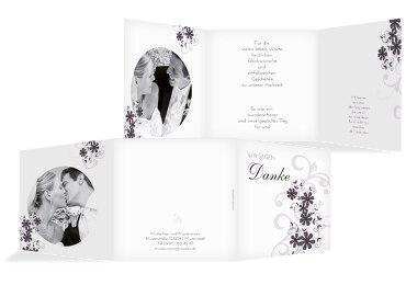 Hochzeit Dankeskarte Ranke