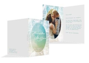 Hochzeit Dankeskarte Federleicht