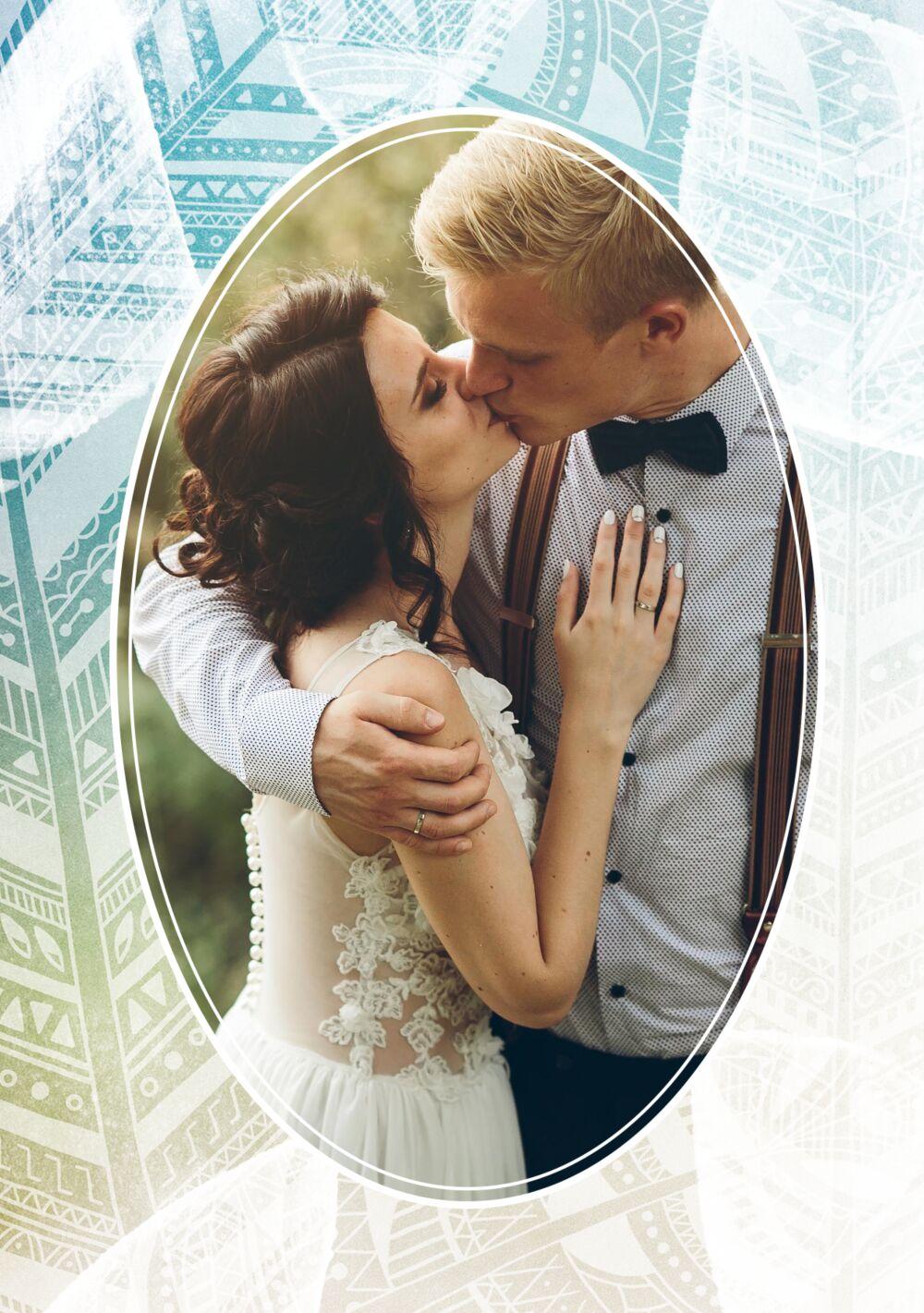 Ansicht 4 - Hochzeit Dankeskarte Federleicht