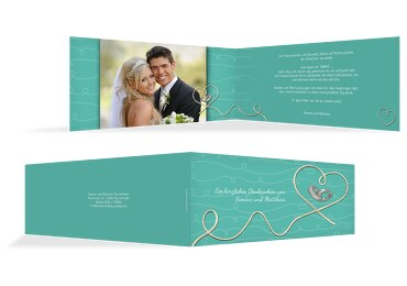 Hochzeit Dankeskarte erfüllte Liebe
