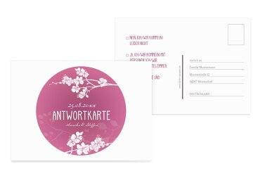 Antwortkarte Cherry Blossom