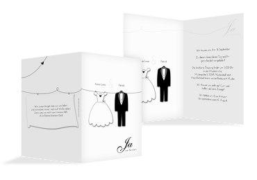 Hochzeit Einladung dress and suit