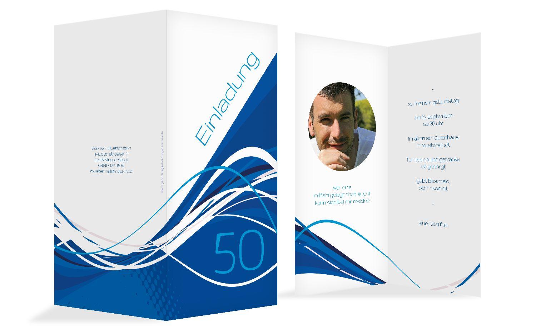 Einladungen Welle 50 Foto