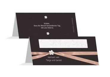 Hochzeit Tischkarte sanfte Blüte