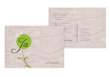 Hochzeit Antwortkarte Fantasyflower