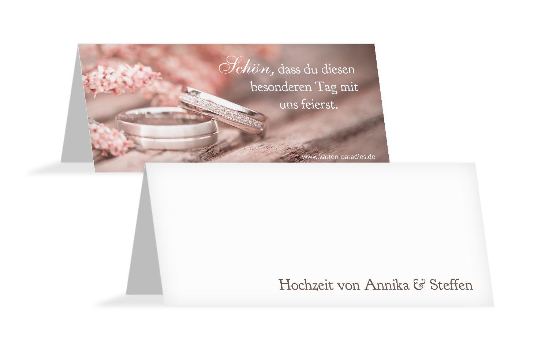 Hochzeit Tischkarte Ringe