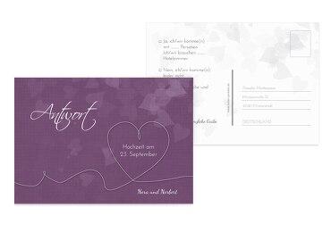 Hochzeit Antwortkarte ewiges Band