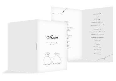 Hochzeit Menükarte dresses