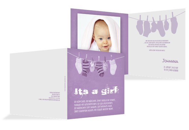 Baby Dankeskarte It's a girl