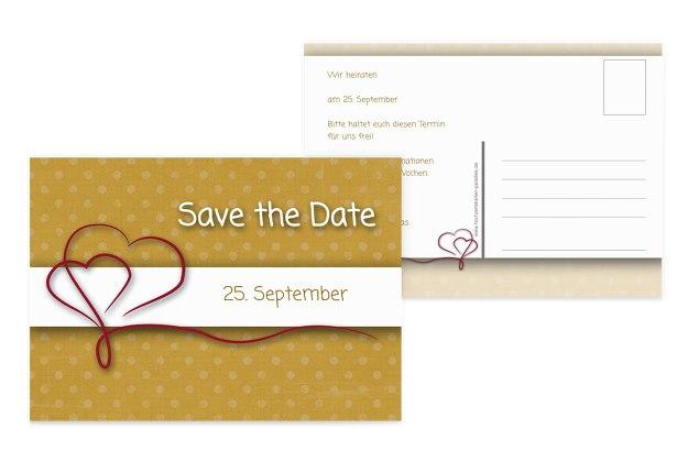 Save-the-Date Gepunktet