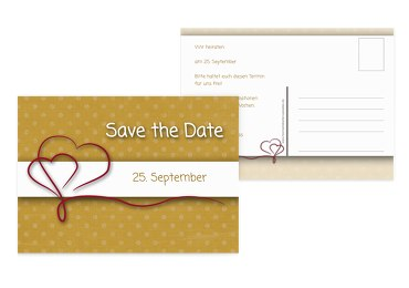 Save-the-Date Gepunktet