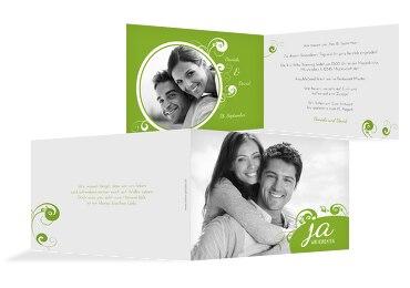 Hochzeit Einladungskarte squiggle chubby