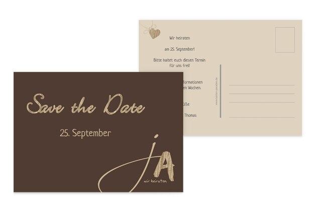 Hochzeit Save the Date natürlich Ja