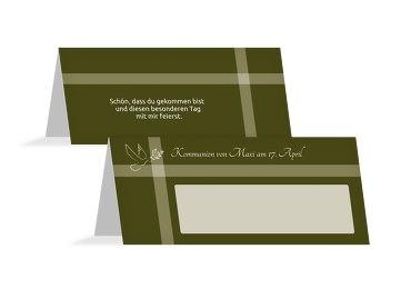 Tischkarte Kommunion Glaubensbote