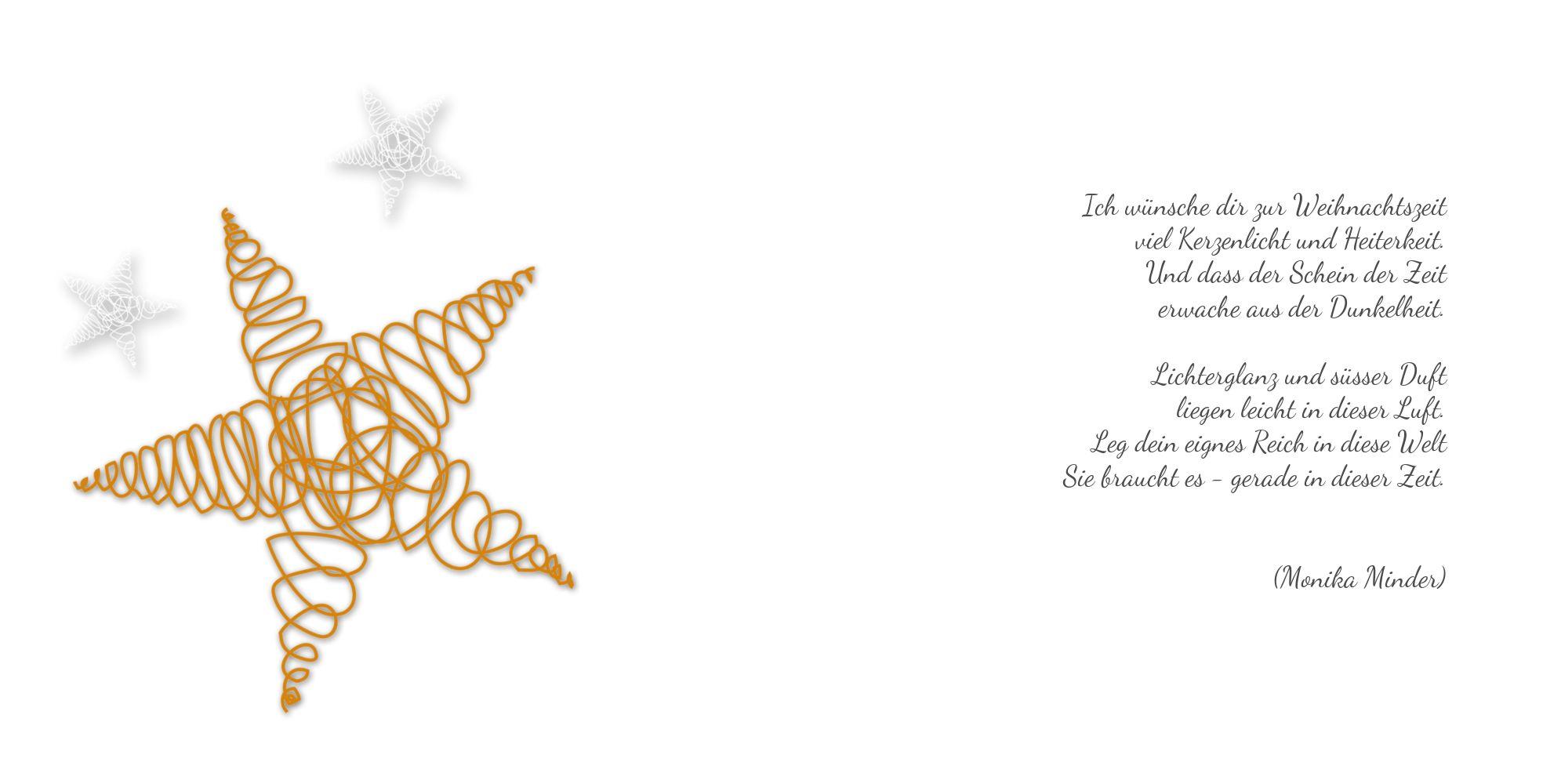 Ansicht 4 - Grußkarte Weihnachten curly star