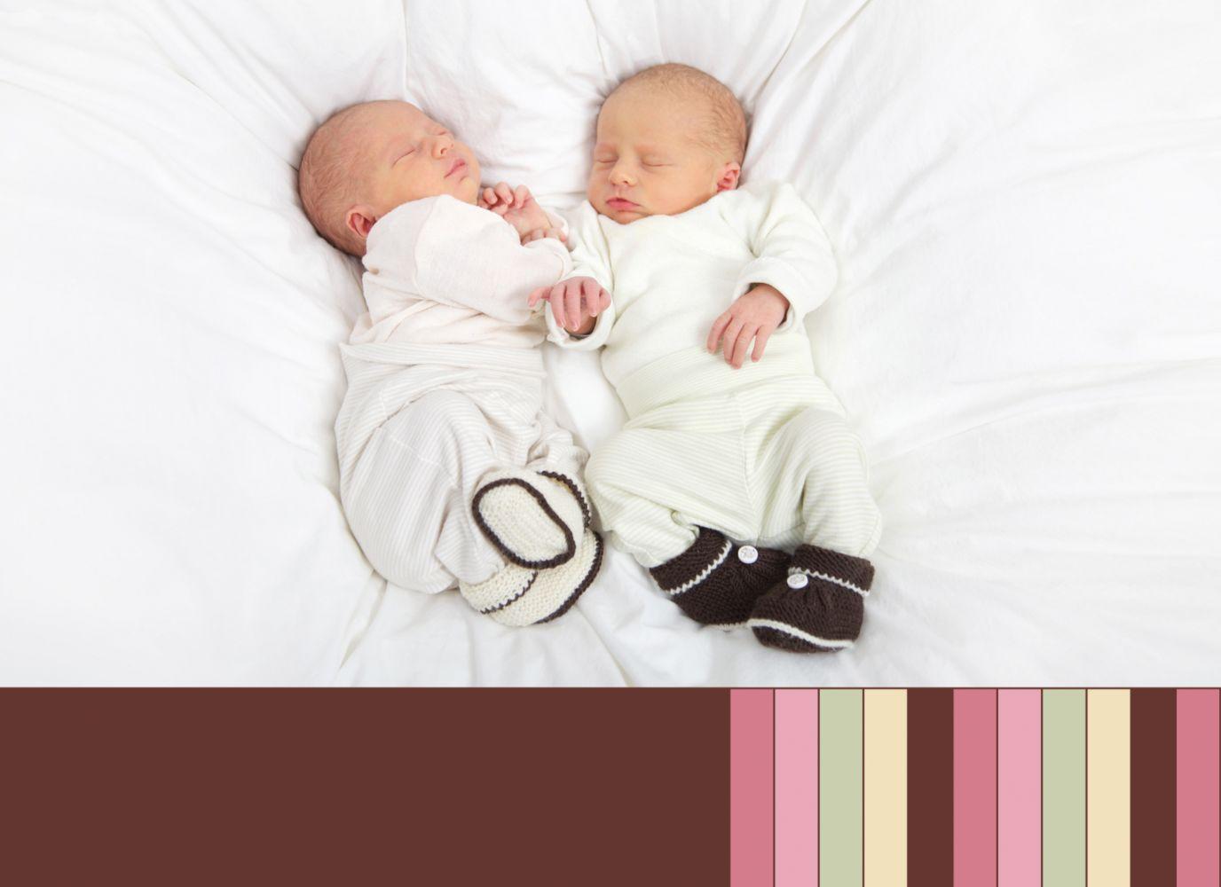 Ansicht 2 - Babykarte Zwillinge Retro